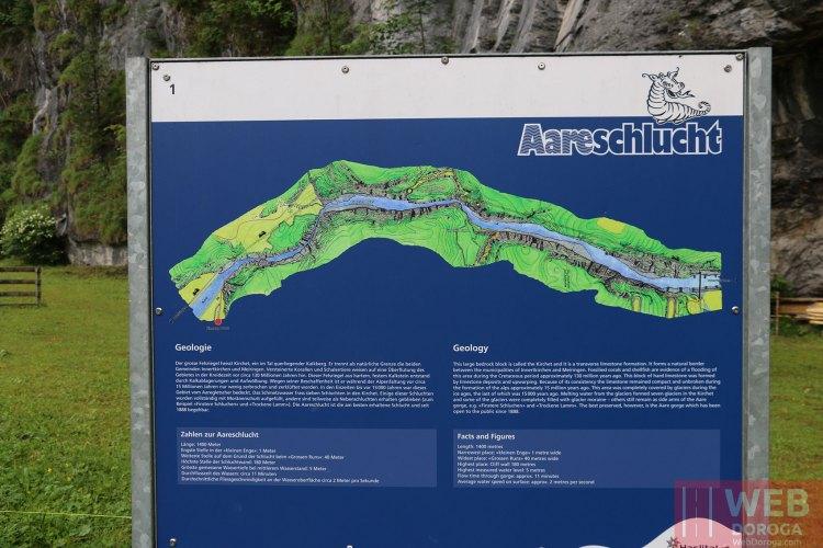 Схема Aareschlucht