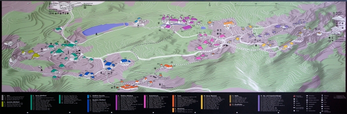 План-карта музея Ballenberg