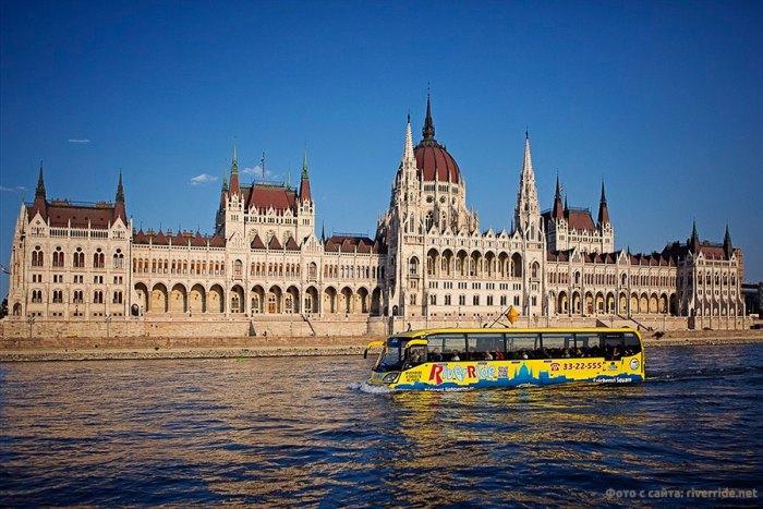 Автобус по Дунаю в Будапеште - это реально