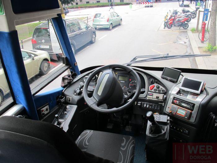 Водный автобус в Будапеште - кабина водителя