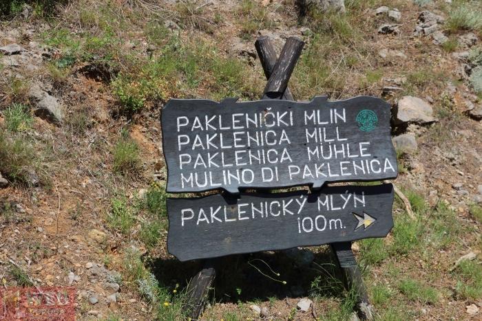 Указатель - Мельница в парке