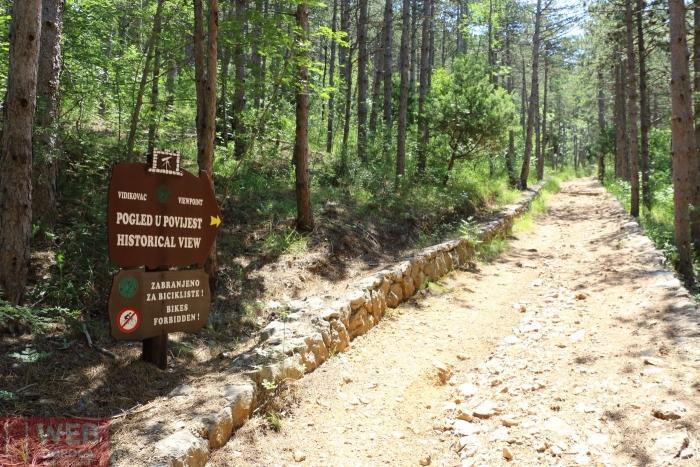 Тропа на смотровую площадку Национального Парка Пакленица