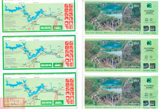 Входные билеты в Плитвицкие озера