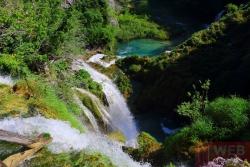 Вид на водопад со смотровой площадки в Плитвицких озерах