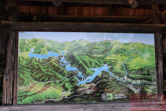 Общая карта Национального парка Плитвицкие озера