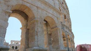 Амфитеатр в Пуле - вид сбоку