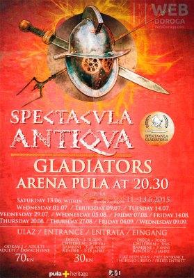 Постер гладиаторских боев в Пуле