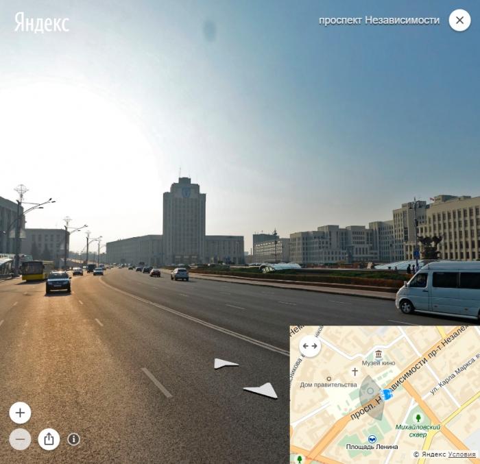 Яндекс- панорама на картах