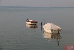 Лодки на причале Балатона