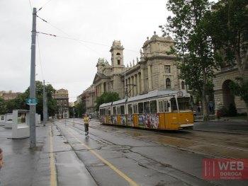 Электротранспорт Будапешта - трамвай в городе
