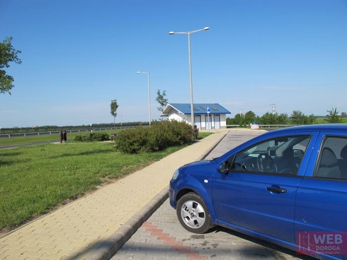 Парковка на парковке платных дорог Венгрии