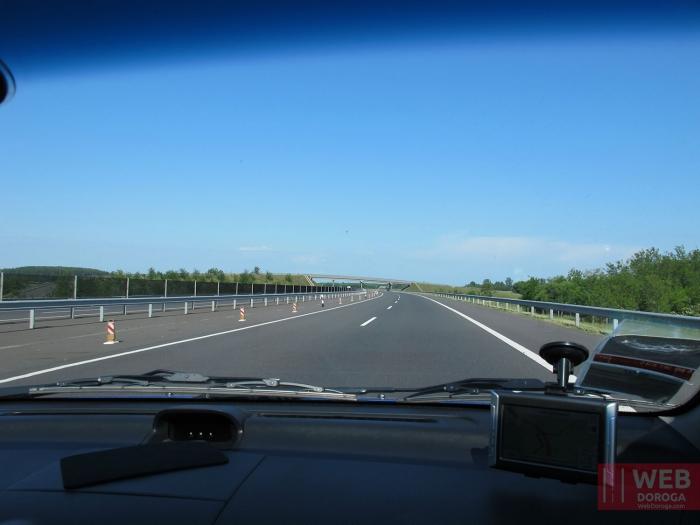 Платные дороги Венгрии - вид из машины