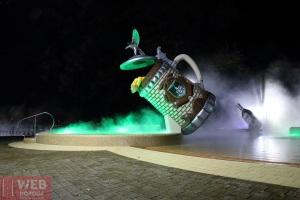 Вид на пивной термальный бассейн Косино ночью