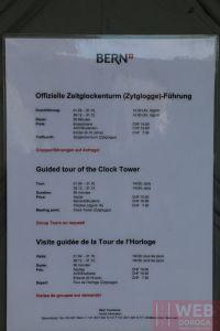 Расписание посещения на часовую башню Цитглогге