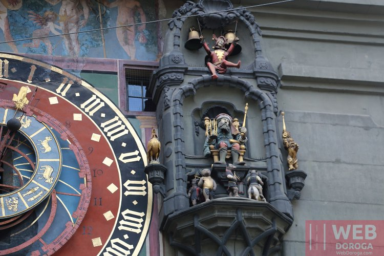 Циферблат часовой башни Цитглогге в Берне