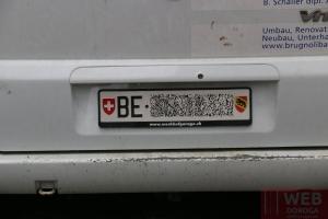 Пример авто-номера в Берне