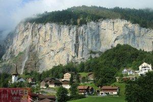 Ущелье при выезде из Lauterbrunen