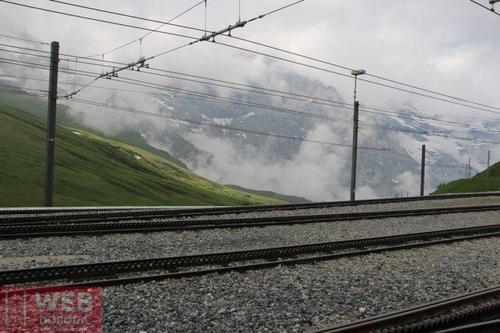 Электрофицировання жлезеная дорога в Альпах - Юнгфрау