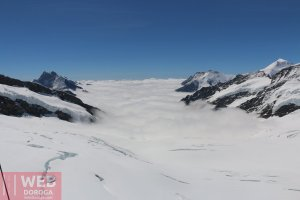 Вид на ледник со смотровой площадки Jungfrau