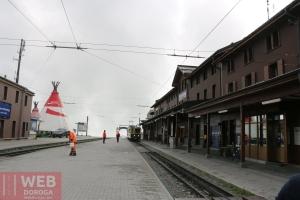 Станция пересадки по пути на Юнгфрау - перон