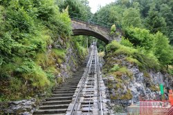 дорога фуникулера на Рейхенбахский водопад