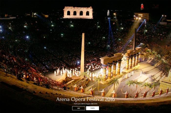 Представление на Арена ди Верона в Италии