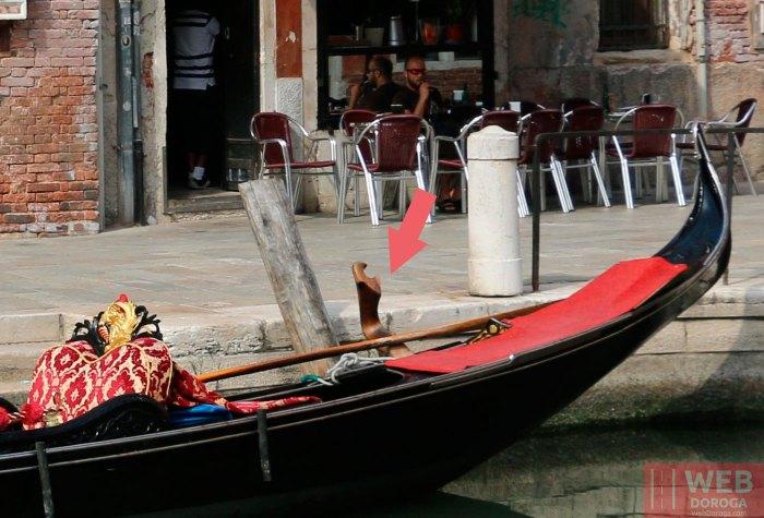 замок весла, называется в гондоле форкола (fórcola)