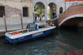 Водная полиция Венеции в каналах
