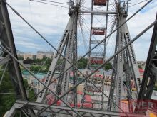 Металлическая конструкция колеса обозрения Пратер