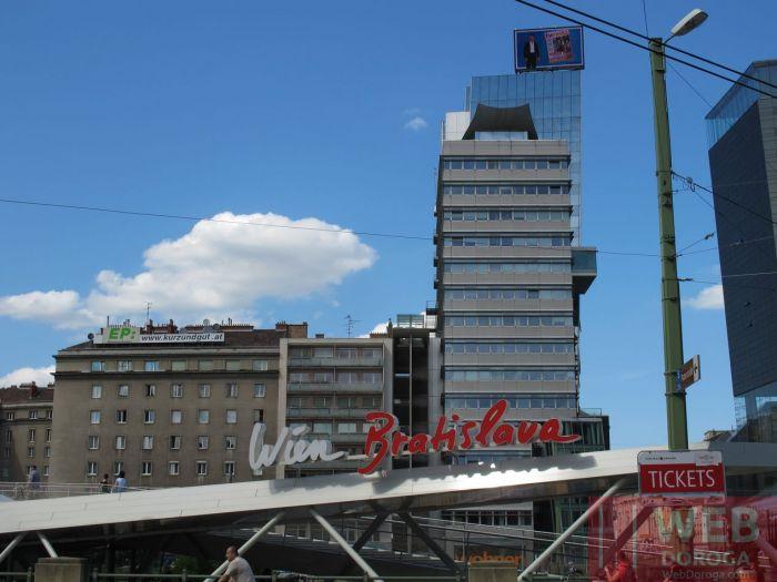 Речной вокзал в Вене по маршруту до Братиславы