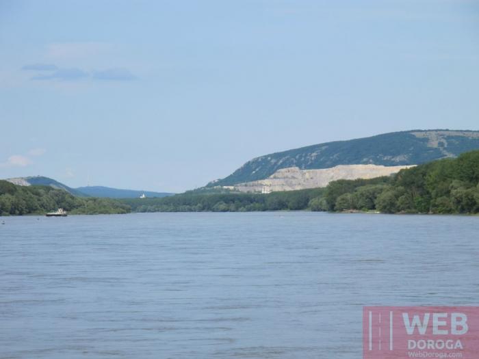 Вид на Дунай по маршруту Вена - Братислава
