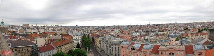 Панорама Вены с смотровой площадки Дом Моря