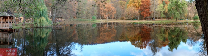 Озеро в центре парка